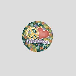 Peace Love Obama [globe] Mini Button